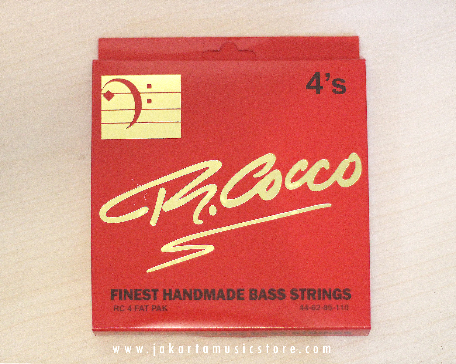 R Cocco 4 FAT PAK STainless Steel Strings